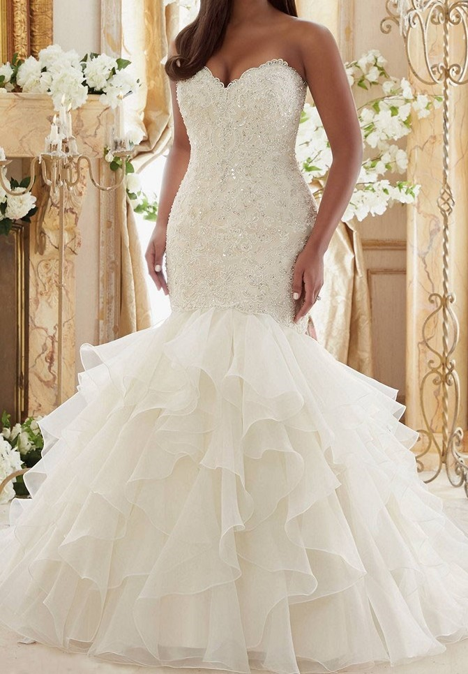 Ruffle Wedding Dresses On Trend For
