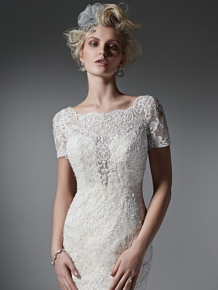 Deep V Wedding Dress Necklines – On Trend for 2017