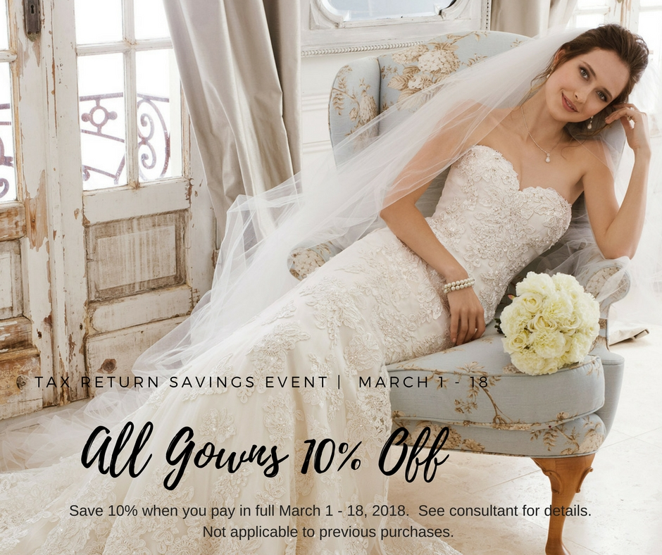 Save an extra 10% when you pay in full March 1 -18.