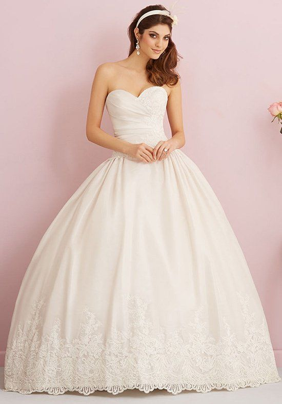 746885e7a4e12 Check out this ivory trumpet wedding gown by Kenneth Winston gown! This  ruched gown is simple and romantic with it's satin material and blingy  detail on the ...