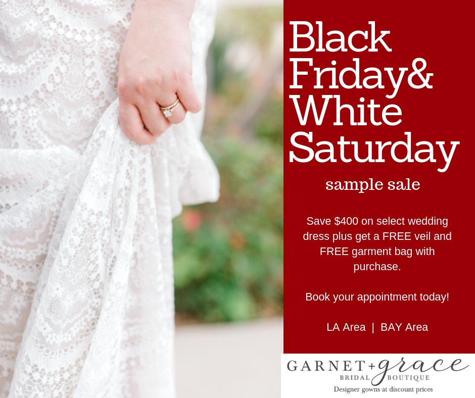 Black Friday 2 Day Wedding Dress Sample Sale