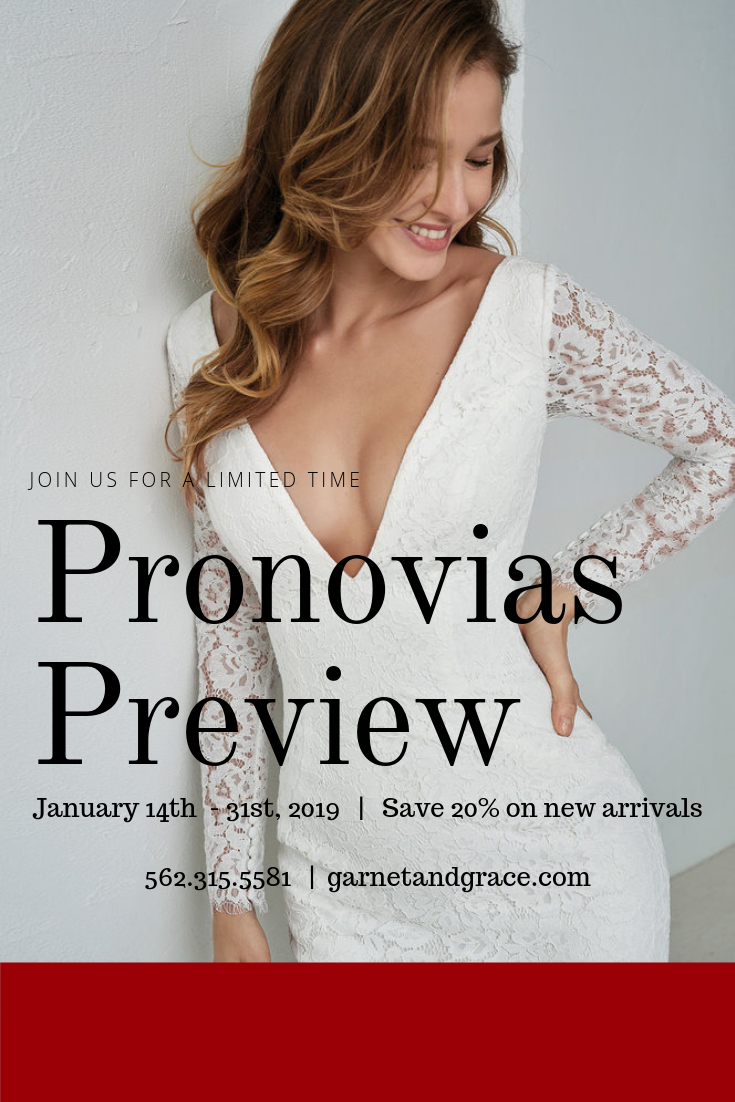 Pronovias Wedding Dress Preview Event Jan. 14 – 31