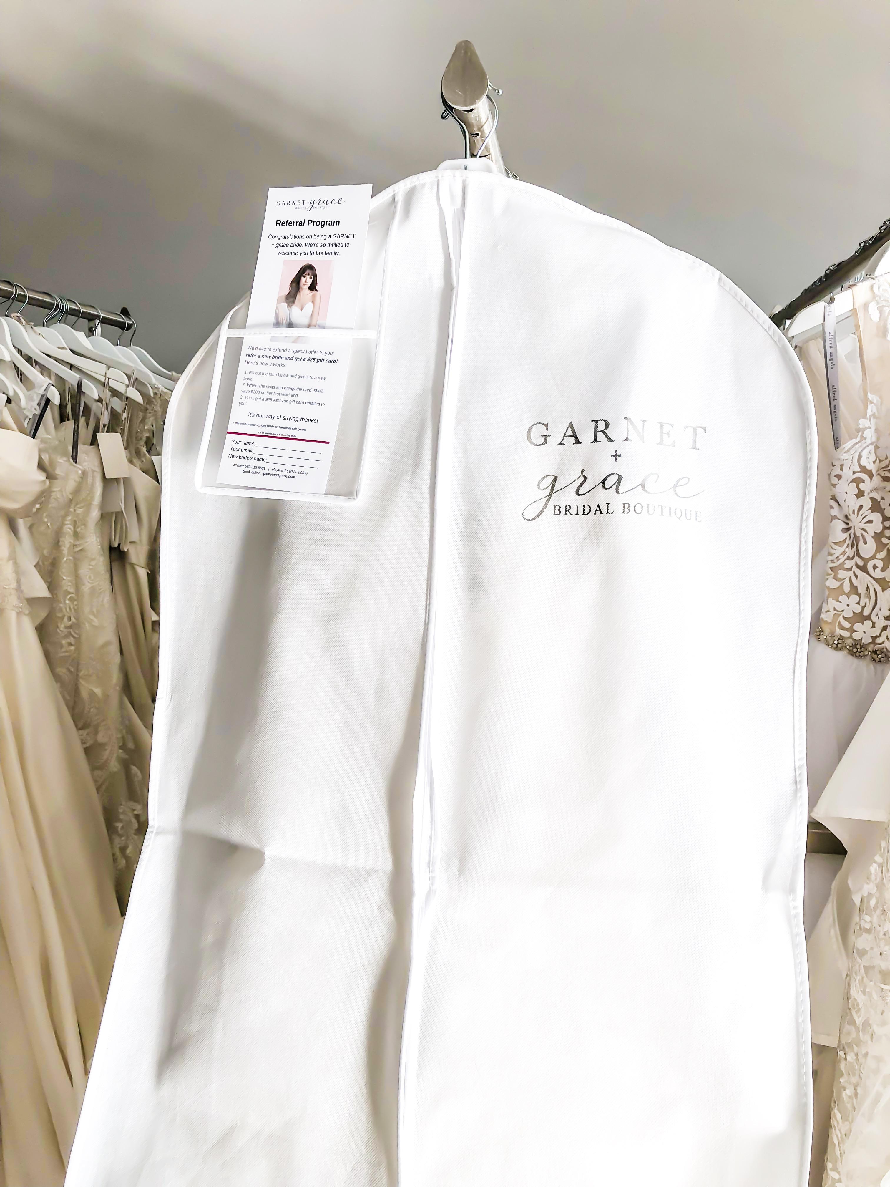 Wedding Dress Referral Program Garnet Grace Discount Designer