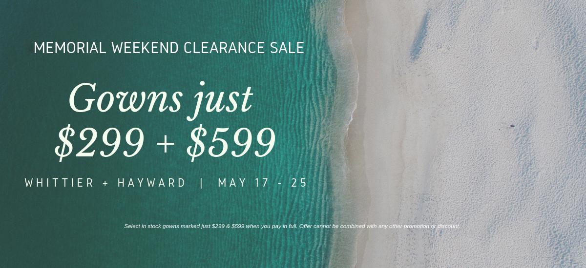 Copy of Memorial Weekend Clearance Sale
