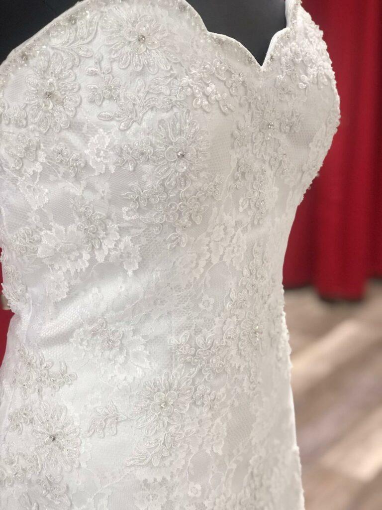 plus size white lace wedding dress sale