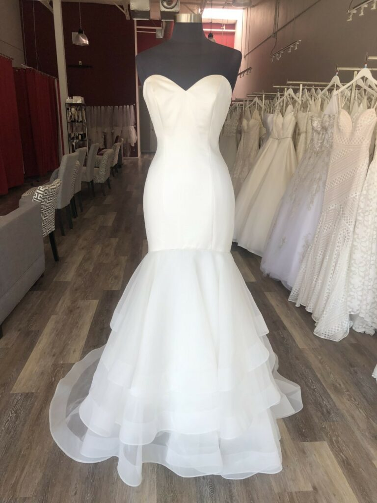 Sleek, simple Mori Lee wedding dress