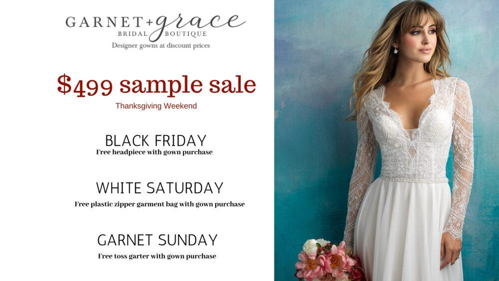 Black Friday $499 Wedding Dress Sample Sale