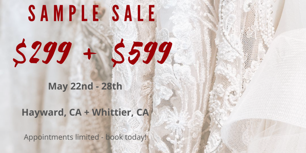 wedding dress sale $299 $599 los angeles bay area california