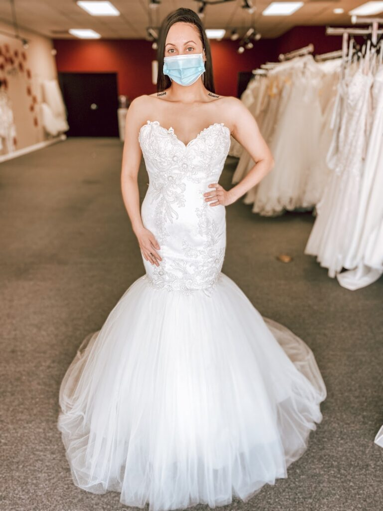 cheap lace and tulle mermaid wedding dress whittier california