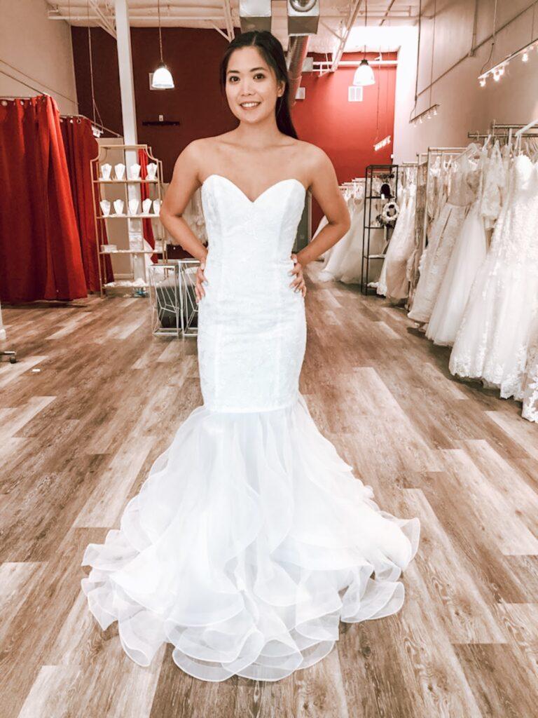 discount mermaid wedding dress oakland california